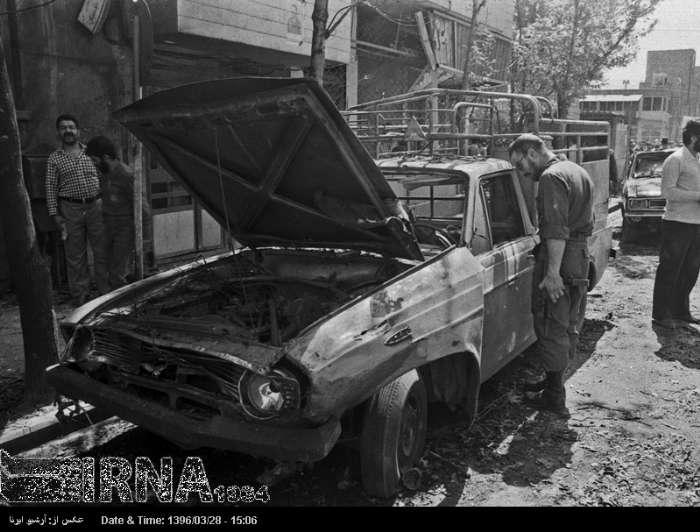 (تصاویر) انفجار بمب در خیابان 17 شهریور تهران
