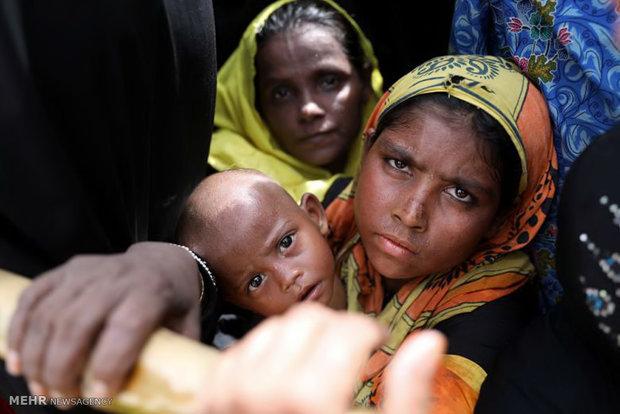 (تصاویر)-چهره های رنج دیده مسلمانان میانمار