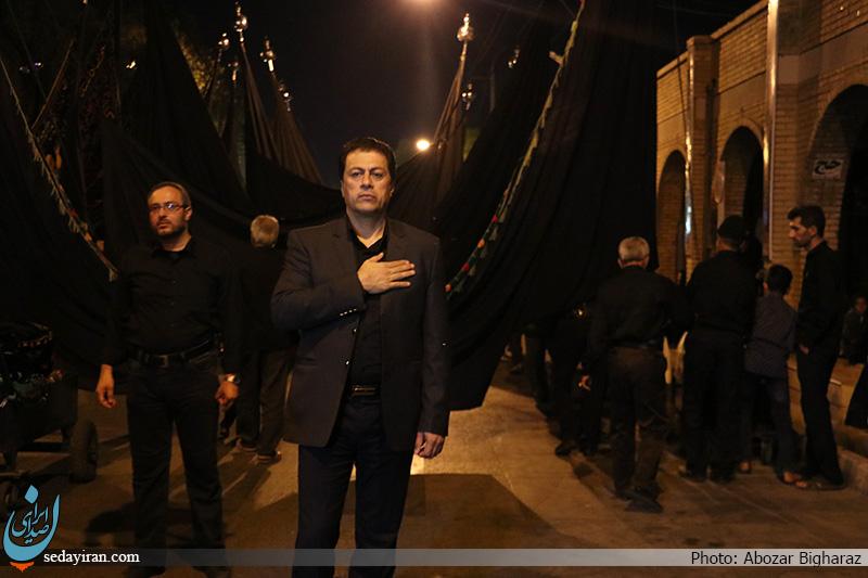 (تصاویر) مراسم عزاداری شب سوم محرم هیئت زنجیر زنی اباالفضل العباس(ع) لارستان